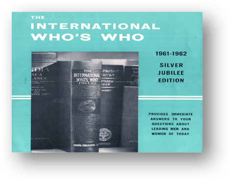 THE INTERNATIONAL WHO'S WHO. 1962